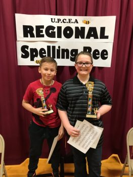 Regional Spelling BEE 6th Grade 1st & 2nd Place Winners 2020